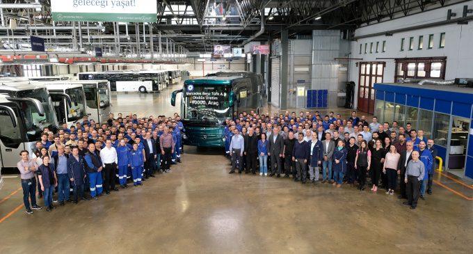 90 bininci otobüsü banttan indirdi