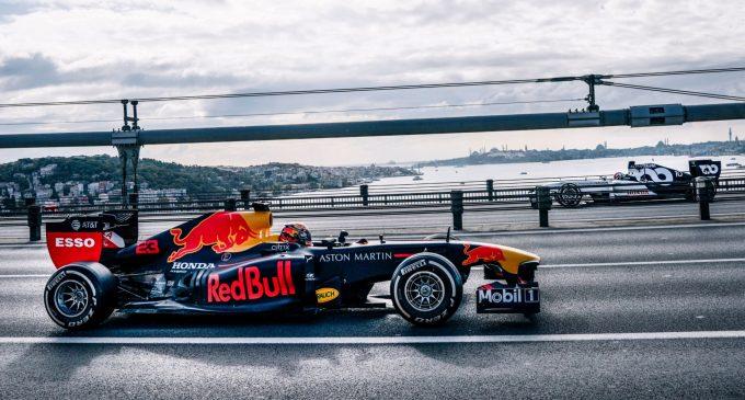 F1 heyecanı İstanbul sokaklarında