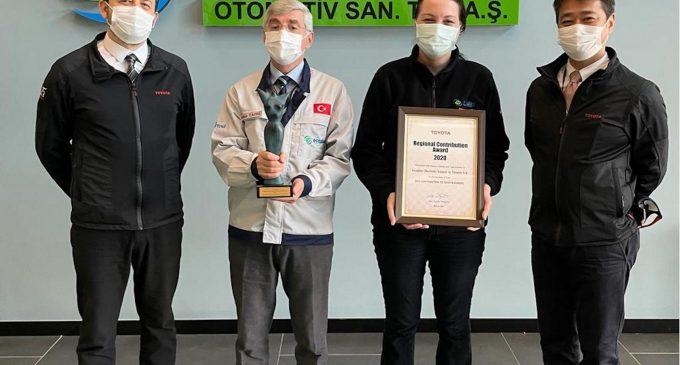 Toyota'nın en iyi iş ortağı seçildi